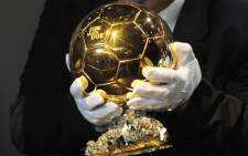 The Fifa Ballon d'Or trophy. Picture: EPA.