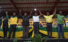 FILE: African National Congress's new top six (from L to R): Deputy Secretary-General Jessie Duarte, Secretary-General Ace Magashule, National Chairperson Gwede Mantashe, President Cyril Ramaphosa, Deputy President David Mabuza and Treasurer-General Paul Mashatile. Picture: Ihsaan Haffejee/EWN