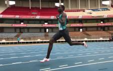 Kenyan middle distance runner David Rudisha. Picture: Twitter/@rudishadavid