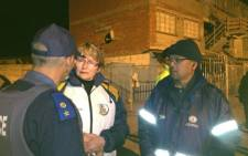 Helen Zille on neighbourhood watch patrol doing her 67 minutes for Mandela Day. Picture: Twitter via@njclelland