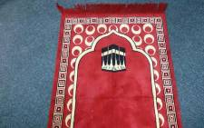 A Muslim prayer mat. Picture Abed Ahmed/EWN