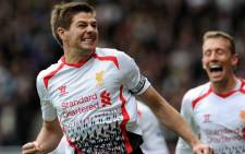 Liverpool's captain celebrates his second goal of the match against West Ham United in the English Premier League on 6 April 2014. Picture: Facebook.