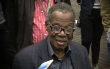 Long serving IFP leader Mangosuthu Buthelezi at the ICC in Durban for results of local elections. Picture: Kgothatso Mogale/EWN