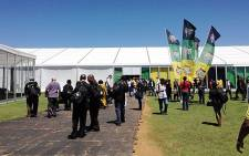 Entrance to the ANC Conference in Mangaung on 16 December 2012. Picture:Aletta Gardener/EWN