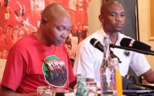 Nehawu's general secretary Bereng Soke briefs media in Johannesburg on their planned national march on 8 February 2017. Picture: Facebook.com.
