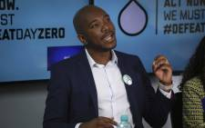 DA leader Mmusi Maimane addresses the media at a #DefeatDayZero briefing in Cape Town. Picture: Cindy Archillies/EWN