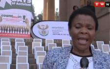 Minister of Women's Affairs Susan Shabangu. Picture: EWN.
