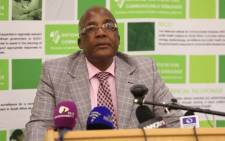 Minster of Health Aaron Motsoaledi updating the media on listeria outbreak in South Africa. Picture: EWN