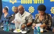 Acting National Police Commissioner Khomotso Phahlane addresses the media at the 4th Forensic Services Conference in Pretoria. Picture: @SAPoliceService/Twitter