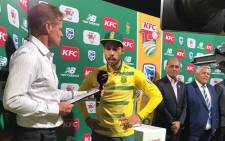 Stand-in Proteas Captain Farhaan Behardien is interviewed after the loss to Sri Lanka on 25 January 2017. Picture: @OffcialCSA.