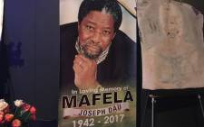 Joseph Dau Mafela's memorial service at the Johannesburg Theatre. Picture: Kgothatso Mogale/EWN.