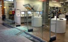 Damage to the Fourways Mall iStore in Johannesburg after it was broken into in the early hours of 29 August 2012. Picture: Marc Lewis/EWN
