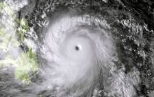 FILE: A satellite image of category 5 Super Typhoon Haiyan which made landfall in the Philippines on 8 November 2013. Picture: AFP