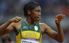 FILE: Caster Semenya reacts after the women's 800m final at the athletics event of the London 2012 Olympic Games on 11 August 2012 in London. Picture: AFP.