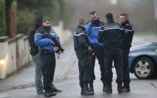 FILE: French police and gendarmes patrol. Picture: AFP.
