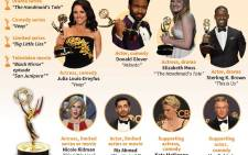 A graphic showing the main winners for the 2017 Primetime Emmy Awards. Picture: AFP