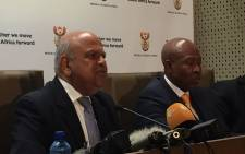 New Finance Minister Pravin Gordhan and his deputy Mcebisi Jonas. Picture: Vumani Mkhize/EWN.
