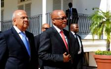 FILE: Finance Minister Pravin Gordhan and President Jacob Zuma. Picture: GCIS.