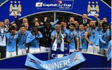 Manchester City beat Liverpool 3-1 in the Capital One League Cup on penalties after the matche ended 1-1 on 28 February 2016. Picture: Manchester City/Facebook.