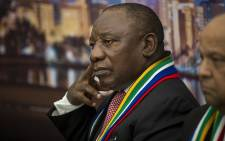 South Africa's Deputy President Cyril Ramaphosa listens during discussions at a Brand South Africa briefing at the World Economic Forum in Switerland on 17 January 2017. Picture: Reinart Toerien/EWN