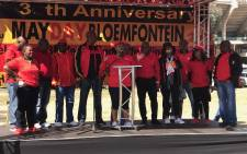 FILE: Cosatu leadership gathered on stage in Bloemfontein. Picture: Kgothatso Mogale/EWN