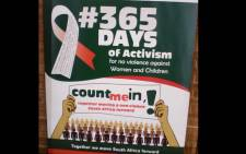 A 6 Days of Activism of No Violence Against Women and Children campaign banner. Picture: GCIS.