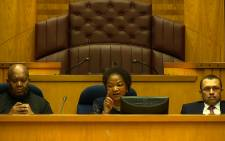 FILE: National Assembly Speaker Baleka Mbete (centre). Picture: Supplied