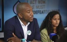 FILE: DA leader Mmusi Maimane addresses the media at a #DefeatDayZero briefing in Cape Town. Picture: Cindy Archillies/EWN