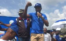 Democratic Alliance leader Mmusi Maimane on Saturday 24 February 2018 in Soshanguve at the launch of a petition to oppose the VAT increase. Picture: Twitter/@Our_DA