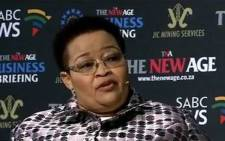 FILE: Northern Cape Premier Sylvia Lucas. Picture: YouTube screengrab.