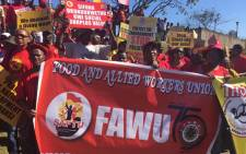 Newly formed South African Federation of Trade Unions, Fawu and Numsa members seen in Durban during a Workers' Day march. Picture: Twitter/@Numsa_Media.