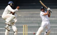 England cricketer Ravi Bopara (R) plays a shot during a practice match between England XI and Sri Lanka Board XI at the R. Premadasa Stadium in Colombo on March 16, 2012.  Picture: AFP