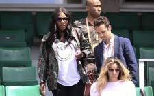 Serena Williams (L) of the US leaves after attending her sister US Venus Williams' tennis match against Japan's Kurumi Nara at the Roland Garros 2017 French Open on May 31, 2017 in Paris. Picture: AFP