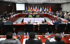 FILE: Trade ministers and delegates from the remaining members of the Trans-Pacific Partnership (TPP) attend the TPP Ministerial Meeting ahead of the Asia-Pacific Economic Cooperation leaders summet in Vietnamese on 9 November 2017. Picture: AFP.