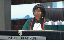 A screengrab of Justice Khampepe in the Constitutional Court on 28 February 2018.