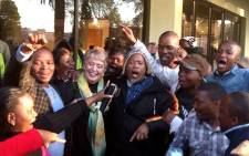 FILE: DA supporters congratulate newly appointed Mayor of Tlokwe Municipality (Potchefstroom) Annete Combrink. Picture: Potchefstroom DA Mayor Facebook page