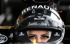 Saudi Arabian Aseel Al-Hamad, the first female member of the Saudi Arabian Motorsport Federation. Picture: Renault  Sports F1/Twitter