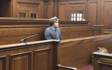 Triple-murder accused Henri van Breda is seen in the Western Cape High Court on 21 September. Picture: Monique Mortlock/EWN