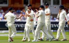 England team celebrating a wicket during the first Test against South Africa at Lord's. Picture: Twitter/@englandcricket.