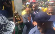 President Jacob Zuma as he is about to address supporters on Vilakazi Street in Soweto ahead of the ANC's 105th birthday celebrations. Picture: Thando Kubheka/EWN