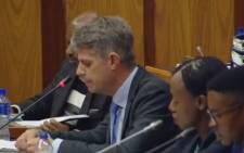 KPMG executives address Parliament's Standing Committee on Public Accounts on 5 October 2017.