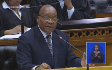 President Jacob Zuma speaks in Parliament during a question & answer session on 13 September 2016. Picture: Youtube