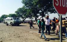 FILE: Miners prepare to go on strike at Anglo American Platinum's Rustenburg mines on 24 January. Picture: Vumani Mkhize/EWN.