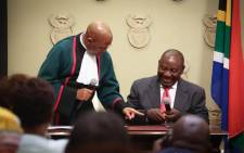 President-elect Cyril Ramaphosa was sworn in as president of the Republic of South Africa on Thursday afternoon, 15 February 2018. Picture: Bertram Malgas/EWN