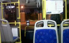 Aboard the Gautrain bus. Picture: Mmatshepo Tugge/iWitness