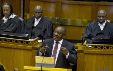President Cyril Ramaphosa replies to the debate on the State of the Nation Address in Parliament. Picture: GCIS.