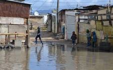 FILE: The Kosovo informal settlement in Cape Town after heavy rain. Picture: EWN