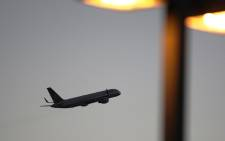 FILE: A United Airlines jet takes off at LAX in Los Angeles, California. Picture: AFP.