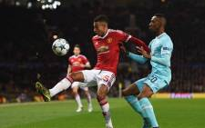 Manchester United's Jesse Lingard in action against a PSV defender in the Champions League clash at Old Trafford on 25 November 2015. Picture: Manchester United official Facebook page.