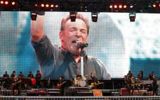 US singer and guitarist Bruce Springsteen performs during his concert at the Molinon stadium in Gijon, northern Spain, on 26 June 2013. Picture: AFP/CESAR MANSO